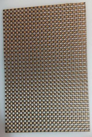 Коврик для сервировки стола серебро - золотистого цвета 450*300 мм (шт), фото 2
