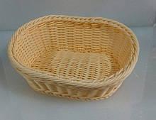 Корзина плетеная пластиковая для хлеба 250*200 мм (шт)