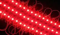 Светодиодный модуль SMD 5050 3 светодиода 120* красный IP67 Код.58077