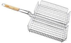 Решетка нержавеющая прямоугольная для гриля - барбекю 320*250*50 мм (шт)