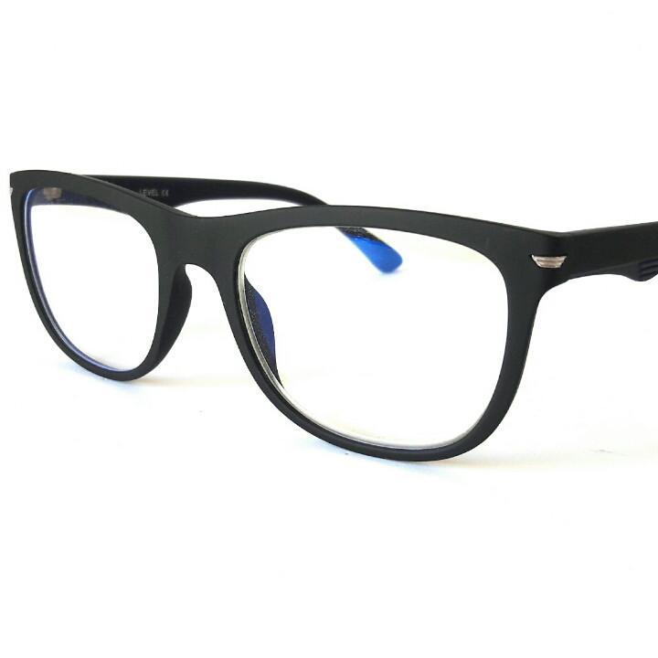 Компьютерные очки пластиковые, унисекс, черный, матовые, Level