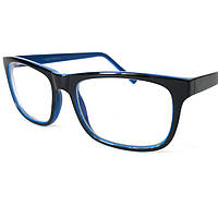 Компьютерные очки(стекло!) пластиковые, унисекс, черно-синие, Loris