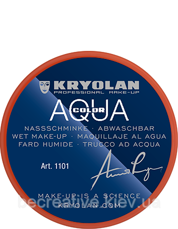 Оранжевый  аквагрим AQUACOLOR 8мл(оттенок MANDARIN)