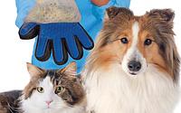 Перчатка для снятия шерсти кошек и собак  PET BRUSH GLOVE