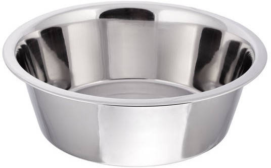 Миска нержавеющая круглая с плоским дном V 2500 мл Ø 250 мм, фото 2