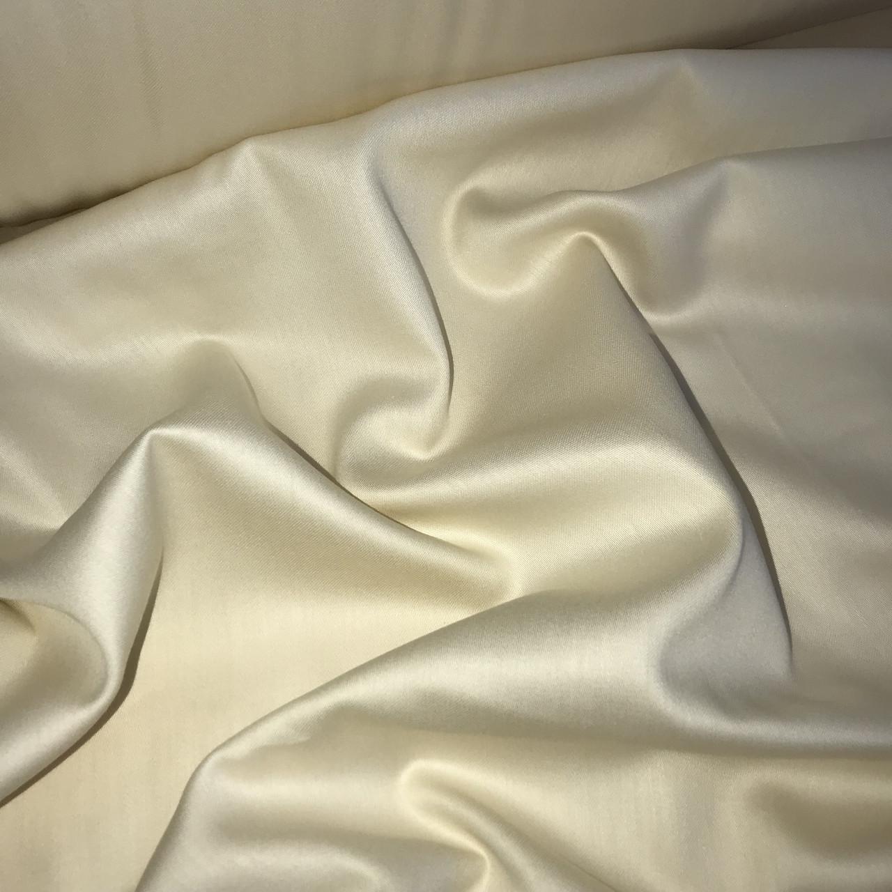 Сатин слоновая кость для постельного белья, мерсеризованный  (ТУРЦИЯ шир. 2,4 м) № 31-55s