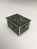 Антикварная серебрянная шкатулка 19век шкатулка серебро футляр серебряный для колец
