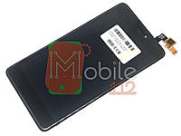 Модуль для Xiaomi Redmi Note 4X, Note 4 Global (Дисплей + тачскрин), черный, с передней панелью