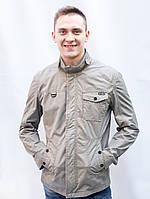 Мужская ветровка парка куртка беж весенняя короткая батал осенняя катон