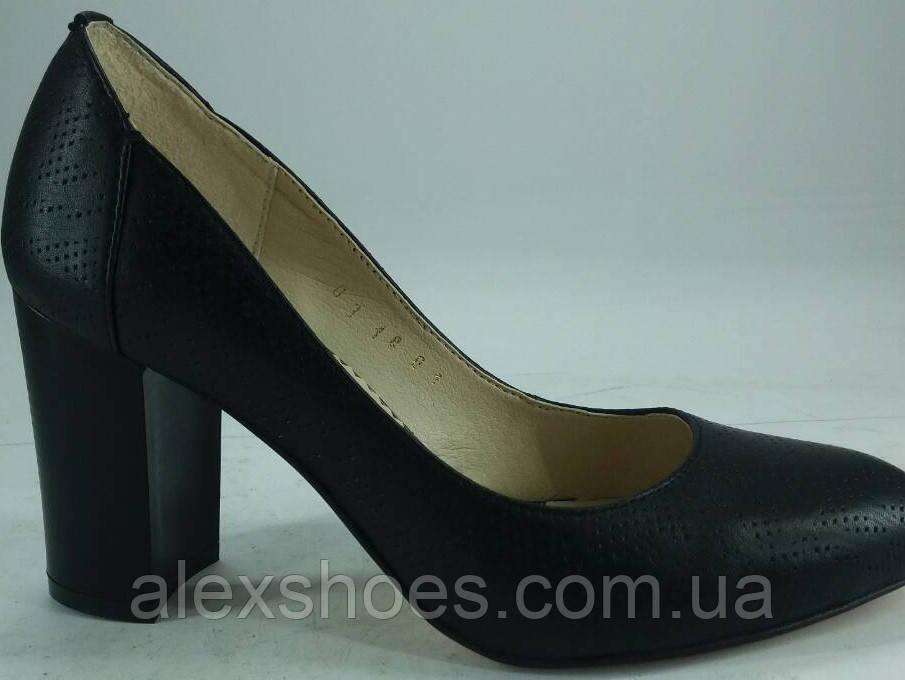 aa1fa4237 Туфли женские классика на высоком каблуке из натуральной кожи от  производителя модель