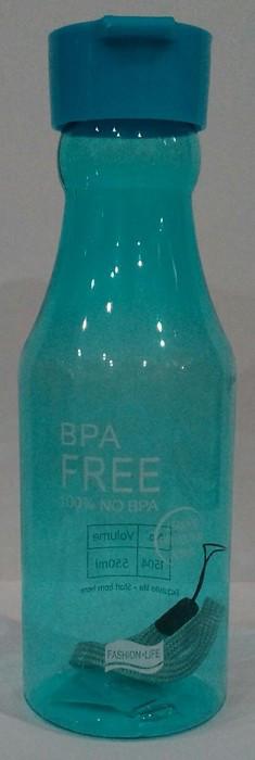 Бутылка пластиковая круглая для воды и напитков V 550 мл (шт)