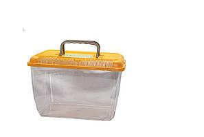 Террариум III пластиковый 7,5 л 30*19*20 см прямоугольный с крышкой