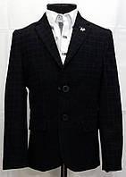Пиджак для мальчиков чёрного цвета в клетку Victor Enzo 5005