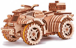 Квадроцикл Wood Trick механический 3D-пазл