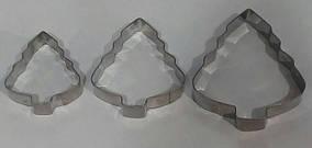 Форма для выпечки (резак) печенья ёлочки (набор 3 шт)