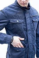 Мужская куртка парка весенняя катоновая приталенная