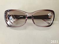 Очки тонированные, солнцезащитные. Модель  2031 коричневые