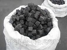 Брусчатка 10х10х10 колотая (черная)Габбро, фото 2
