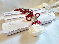 Свадебные пригласительные в свитках Classic (Марсала)