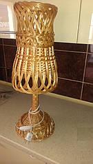 Светильник настольный плетеный из лозы