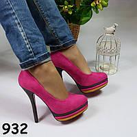 Туфли розовые женские 932