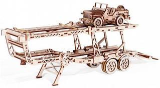 Прицеп автовоз Wood Trick механический 3D-пазл
