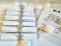 Свадебные пригласительные в свитках Classic (Серебряные)