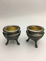 Антикварный серебряный набор для специй 19век Франция столовое серебро молочник сахарница чайник кофейник