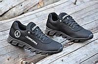 Стильные кроссовки мужские реплика Jordan сетка с замшей черные удобные (Код: 1182а)