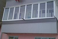 Наружная обшивка балкона. Вагонка