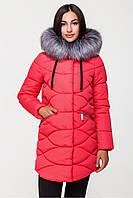 Куртка KTL коралл женская зимняя мех искусственный