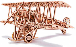 Літак Wood Trick механічний 3D-пазл