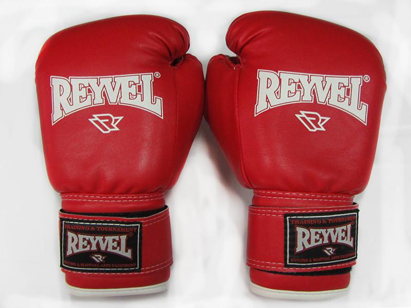 Перчатки для бокса REYVEL винил красные 8oz