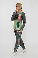 Теплый светло-серый спортивный костюм женский. Турция. Размер 46.