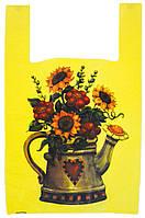 "Пакет майка с рисунком ""Чайник"" 35х57 50шт."