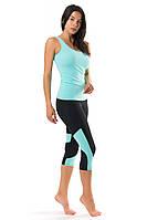 Женский костюм для спорта (42,44,46,48,50) спортивная одежда для йоги и фитнеса. МЯТНЫЙ