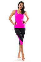 Женский костюм для спорта (42,44,46,48,50) спортивная одежда для йоги и фитнеса. РОЗОВЫЙ
