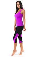Женский костюм для спорта (42,44,46,48,50) спортивная одежда для йоги и фитнеса. ФУКСИЯ