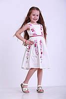 Детское платье для девочек с цветами, р. 92, 122, Белое