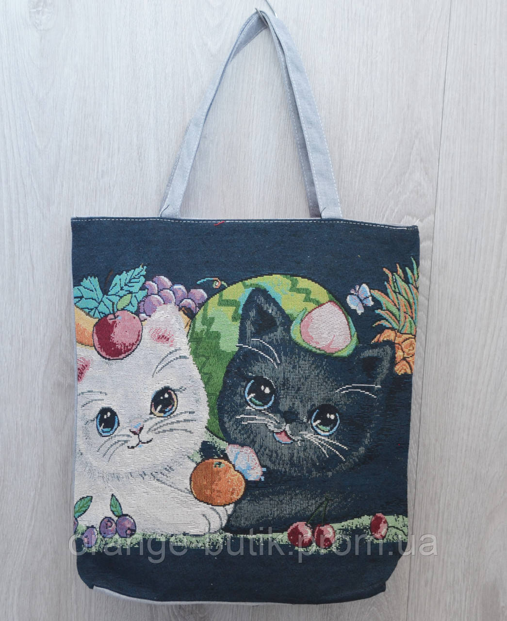 ad2bf14c5860 Пляжная, городская сумка с накаткой котята - Интернет-магазин