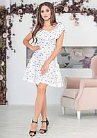 Летнее платье с широкой оборкой (штапель)