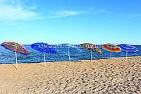 Зонт пляжный МН-0036 (диаметр - 1.8 м) - серебро + наклон, 6 видов