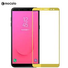 Защитное стекло Mocolo Full сover для Samsung Galaxy J8 2018 золотистый