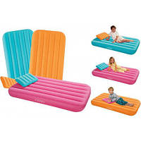 Детский надувной матрас с подушкой Intex 66801 - 157см×88 см×18 см