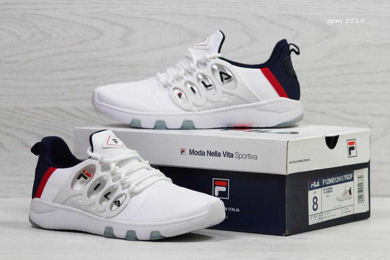 ab364d577 Стильные женские кроссовки Fila белые с синим (Реплика ААА+) ...