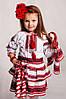 Детский вышитый костюм с геометрическим орнаментом Веснянка, фото 2