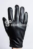 Мужские кожаные перчатки (внутр резинка, закл.сбоку)