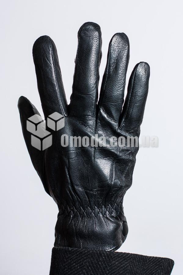 Мужские перчатки натуральная кожа (внутр.внешн.резинка, закл.сбоку)