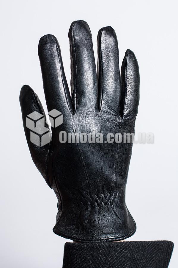 Мужские кожаные перчатки (3 отдел. строчки+внутр.внешн. рез.)