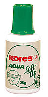 Коригуюча рідина Kores AQUA SOFT TIP, водна основа, 20 мл.,з універсальним аплікатором(K69461)